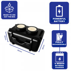 THE MINI ENFORCER: Covert Magnetic Tracker with 6 Week Battery