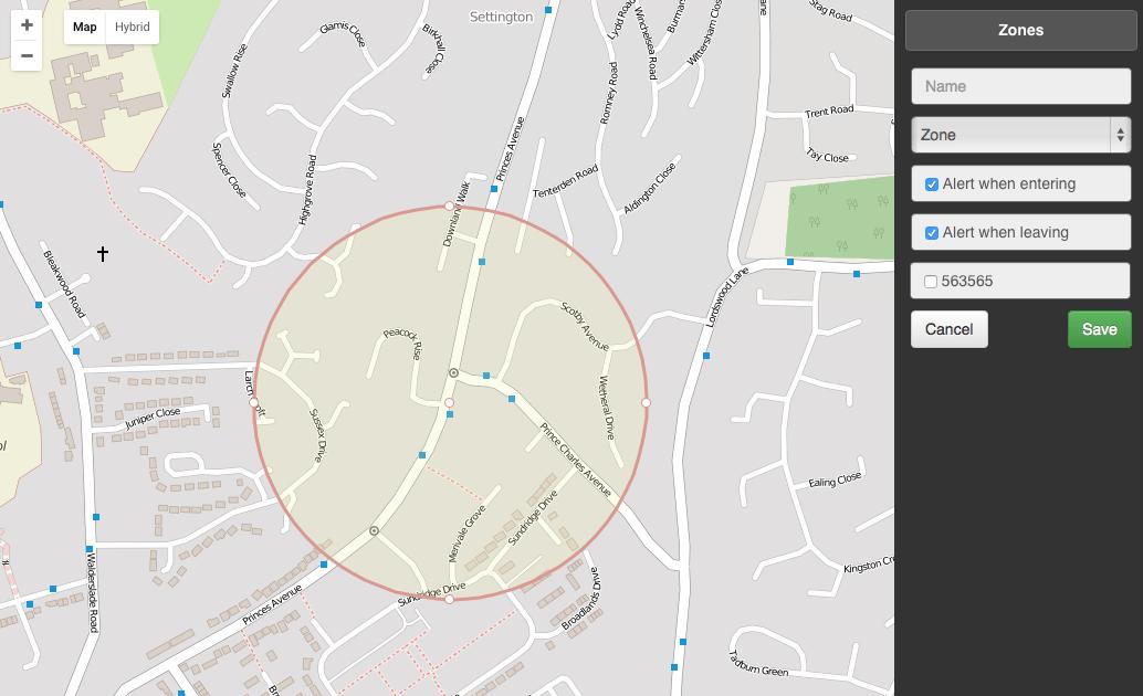 GPS TRACKER SAFETY ZONES/ GEO FENCES